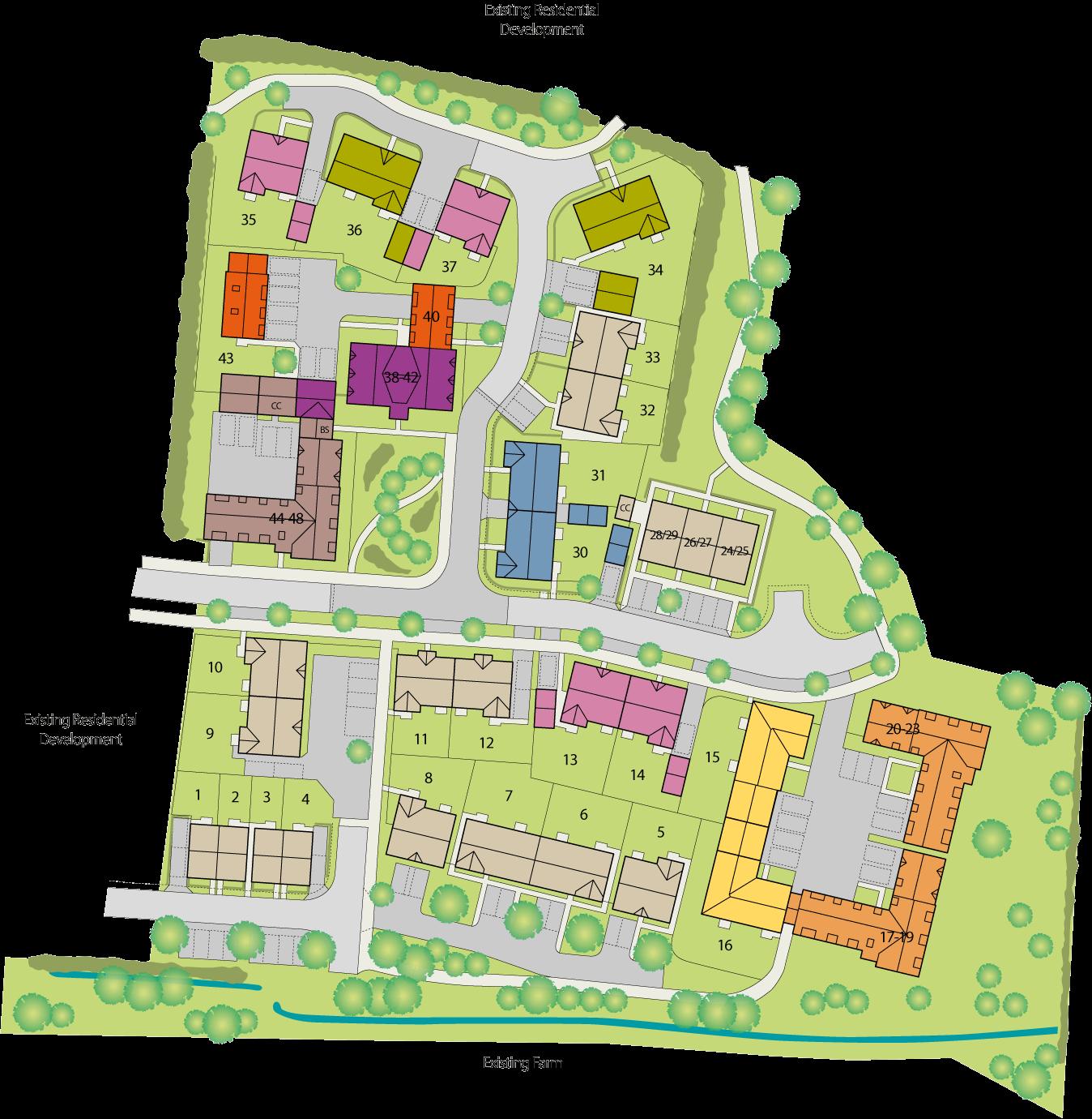 The Farmstead at Tadpole Garden Village plan