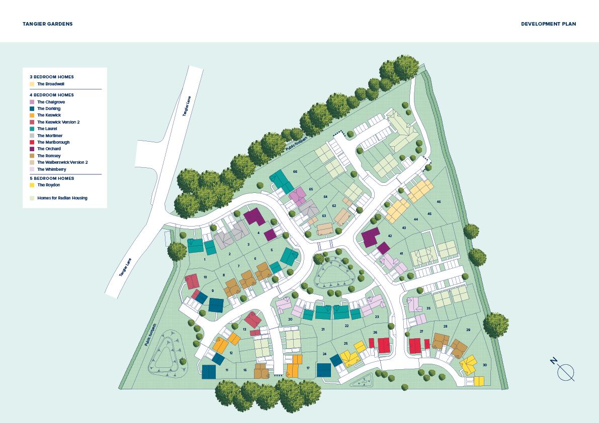 Tangier Gardens plan