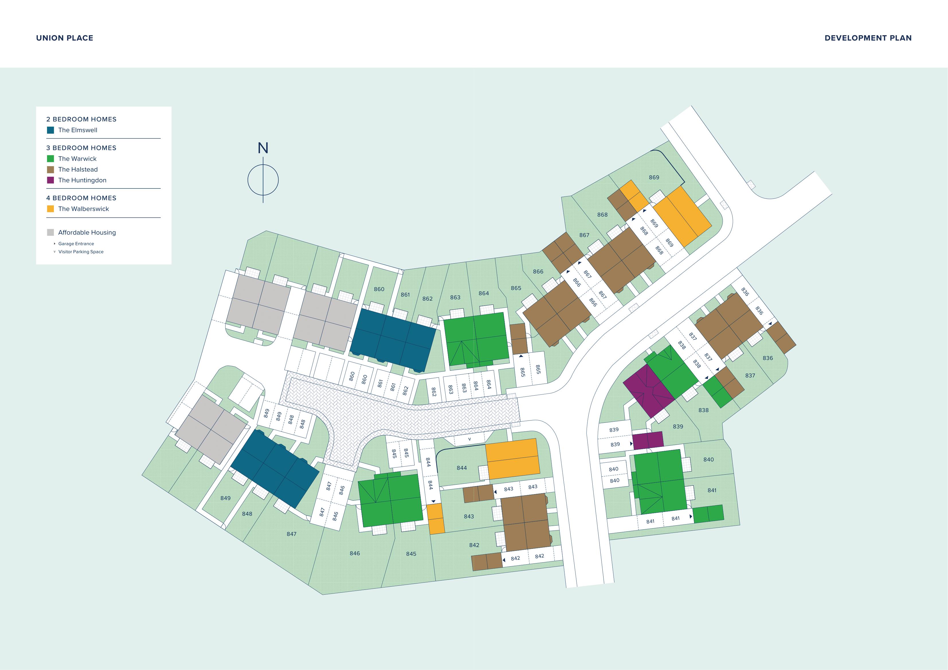 Union Place at Monksmoor Park plan