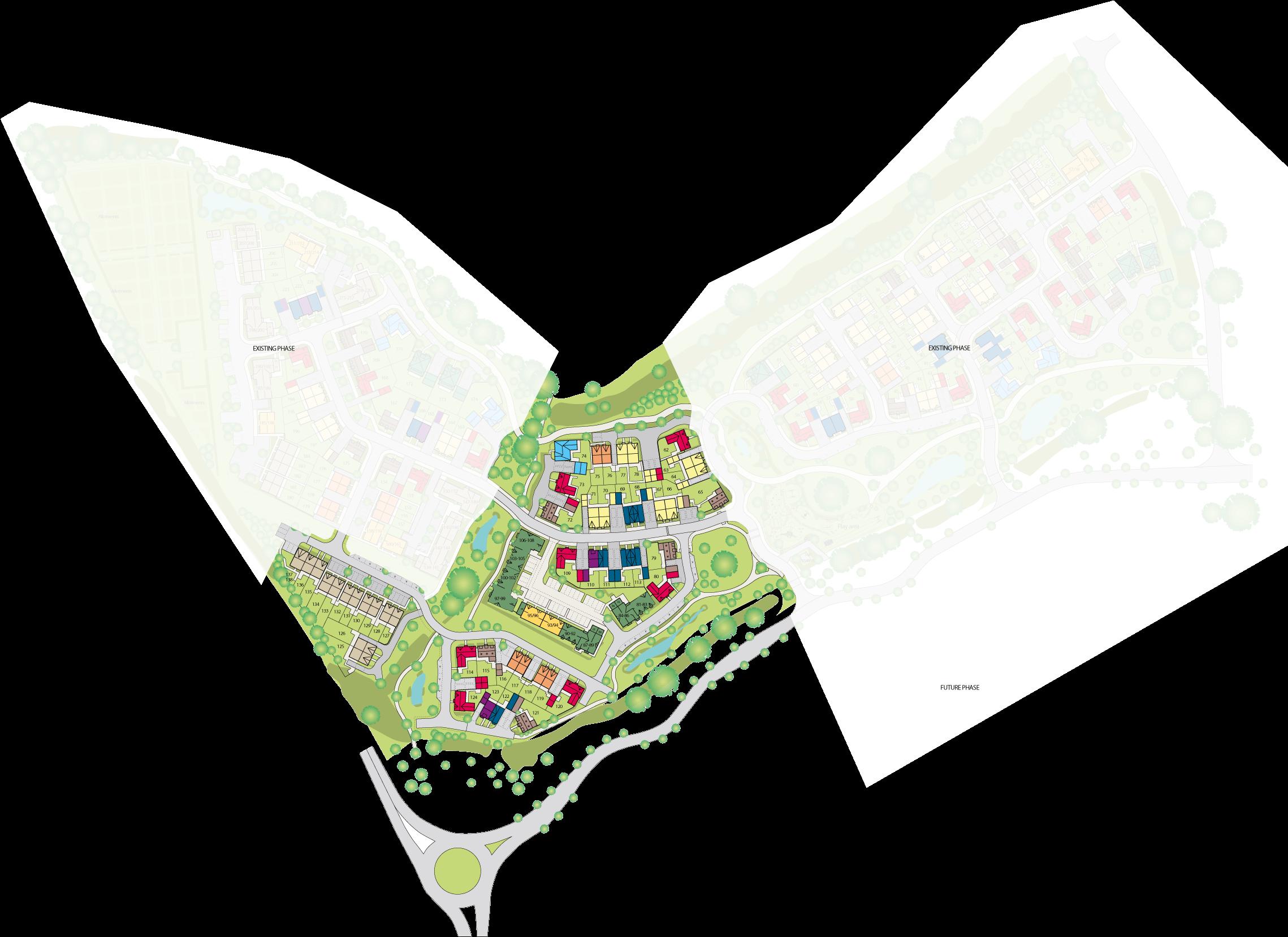 Nightingale Fields at Arborfield Green plan