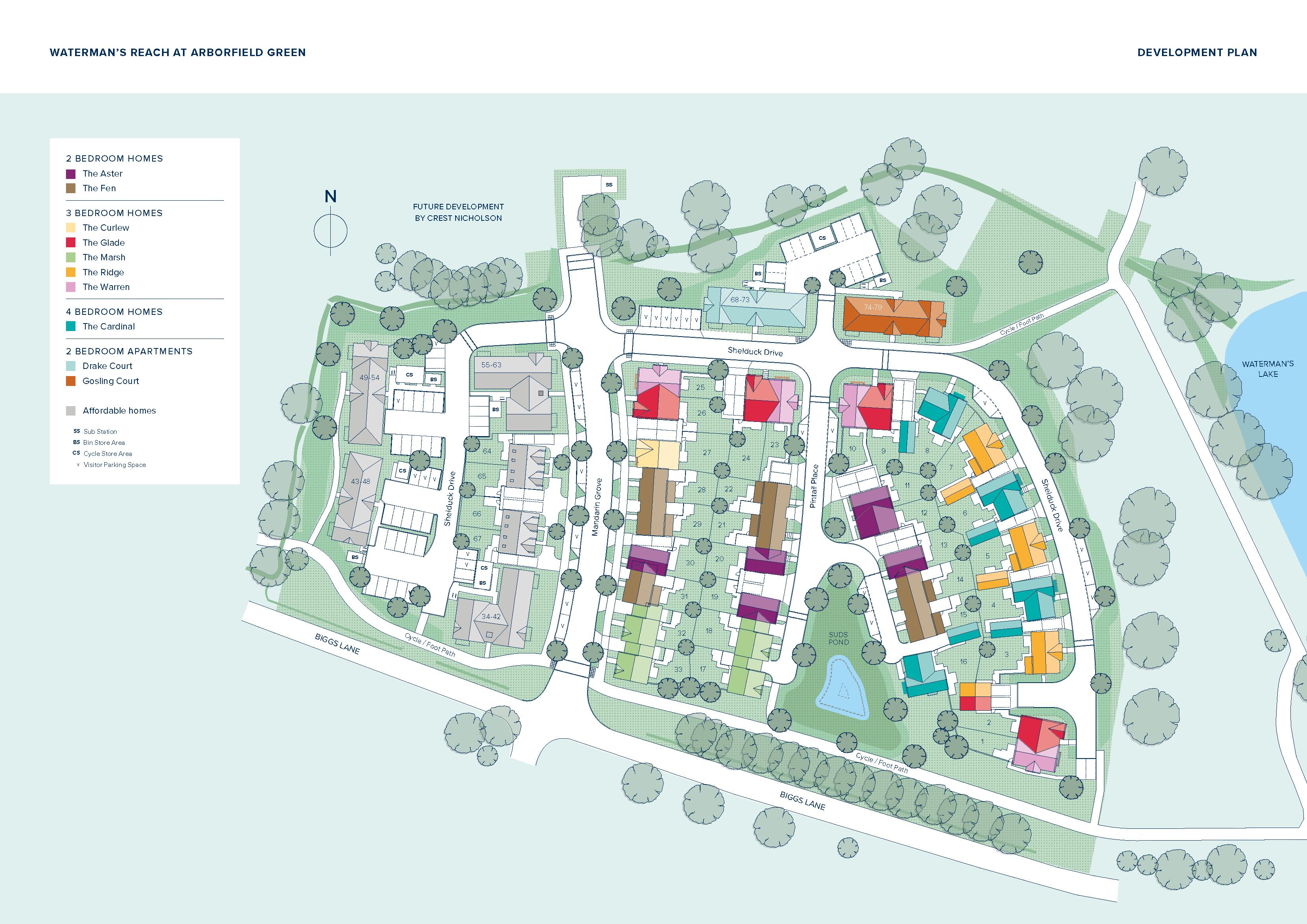 Waterman's Reach at Arborfield Green plan