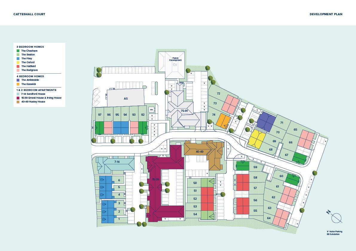 Catteshall Court plan