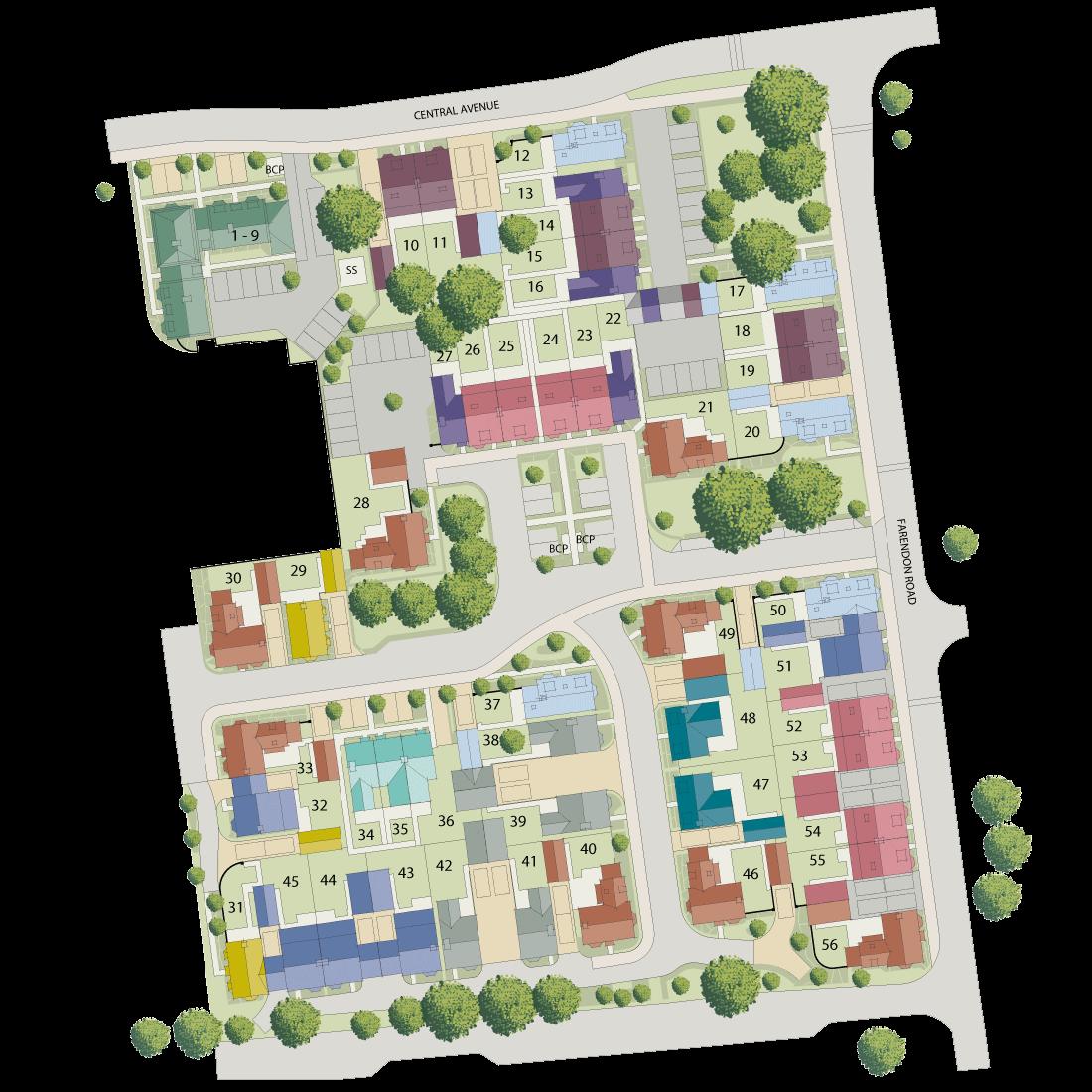 Mandeville Place plan