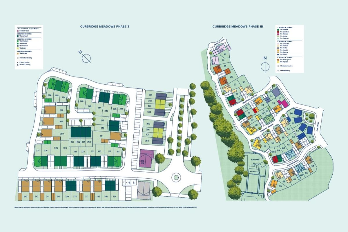 Curbridge Meadows plan
