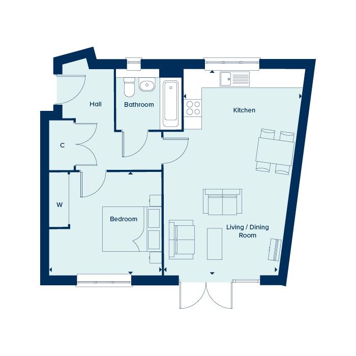 The Amato floorplan image
