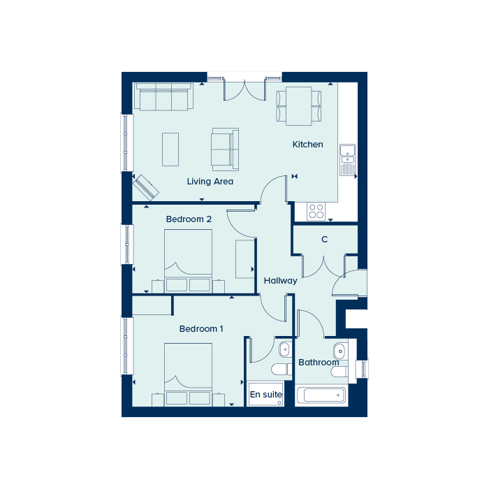 Boswell House - Ground Floor floorplan image