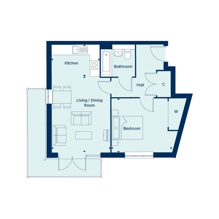 The Enzo floorplan image