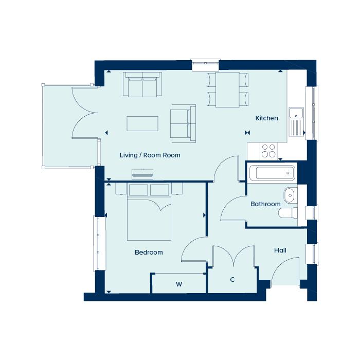 The Ciro floorplan image