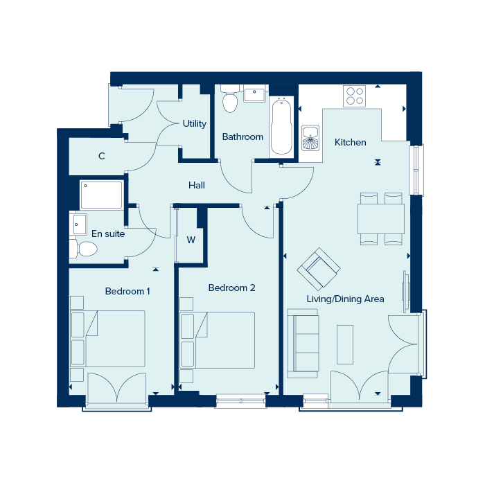 Apartment Type 4 floorplan image