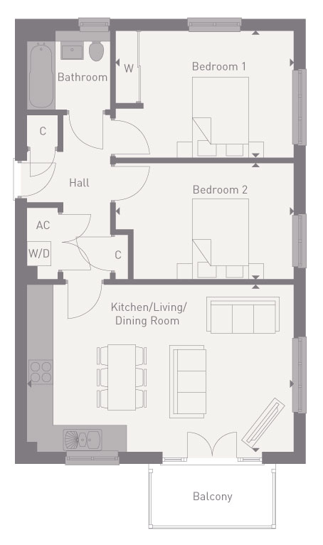 Apartment  floorplan image