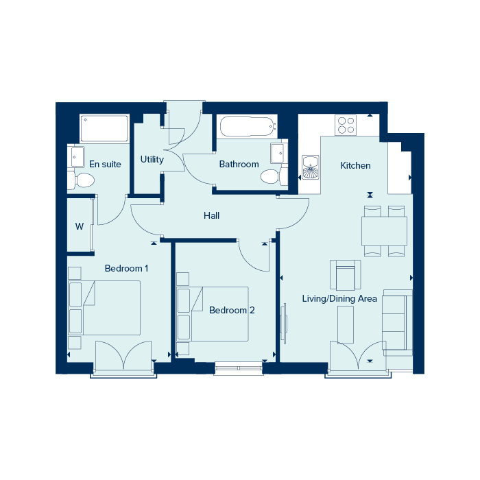 Apartment Type 3 floorplan image