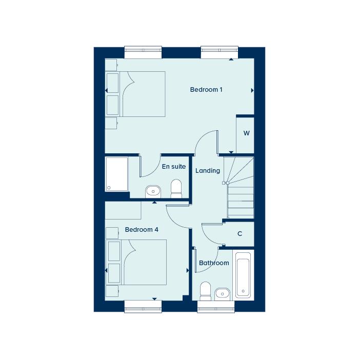 Second floor plan floorplan image