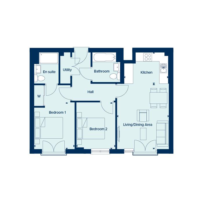 Apartment Type 2 floorplan image