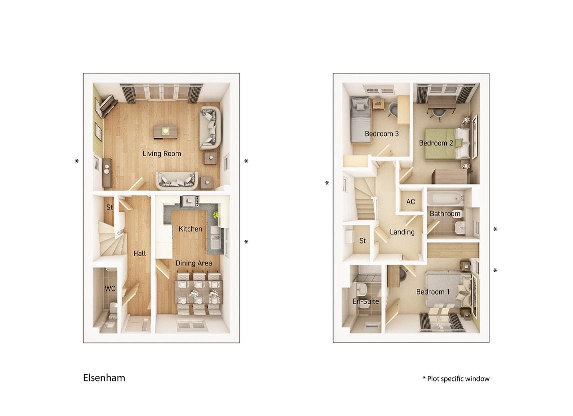 The Elsenham floorplan image