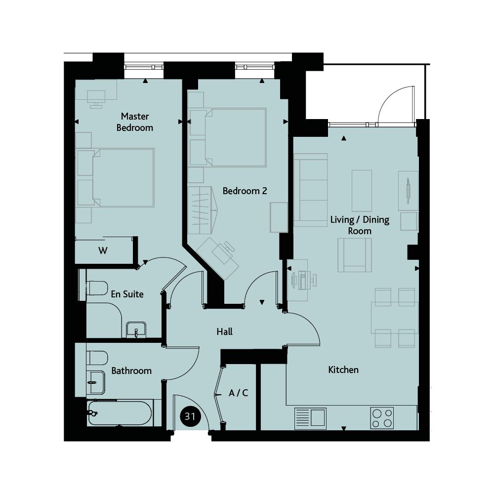 Apartment 2D floorplan image