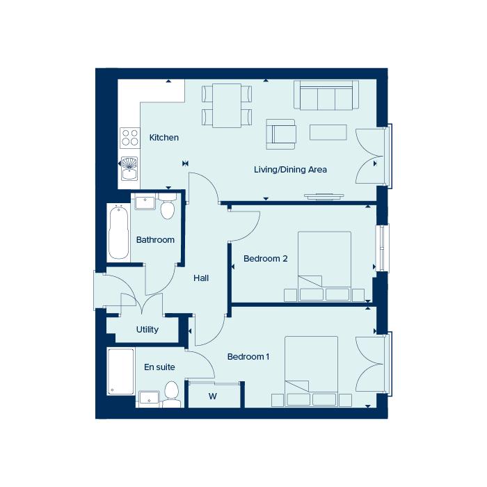 Apartment Type 5A  floorplan image