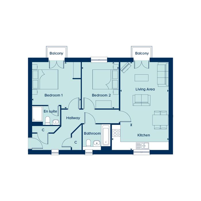 Boswell House - Second Floor floorplan image