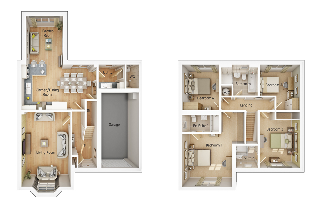 The Sutton floorplan image
