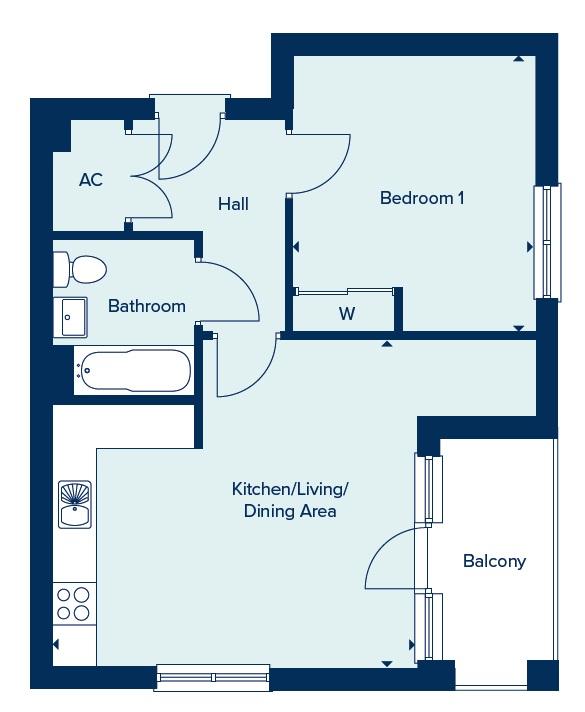 Apartment Type D floorplan image