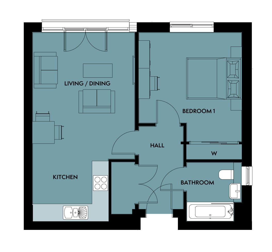 The Desana floorplan image