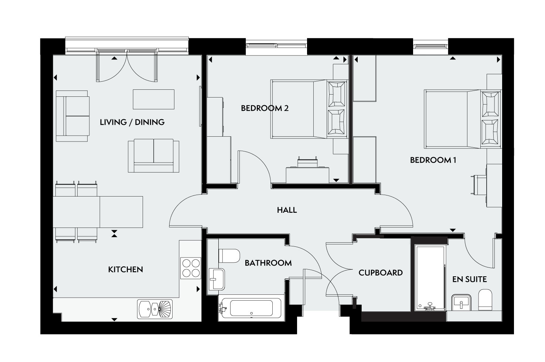 The Dochia floorplan image