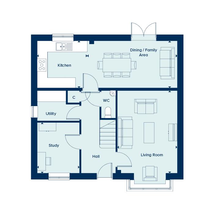 Ground floor plan floorplan image