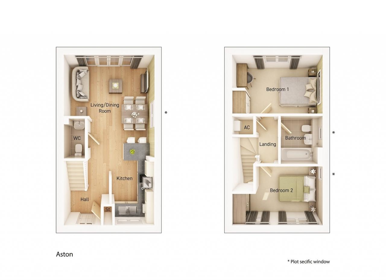 The Aston floorplan image