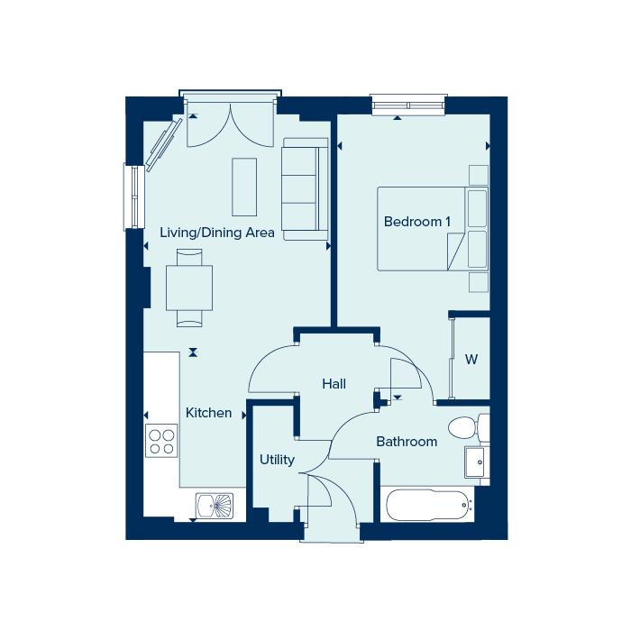 Apartment Type 1 floorplan image