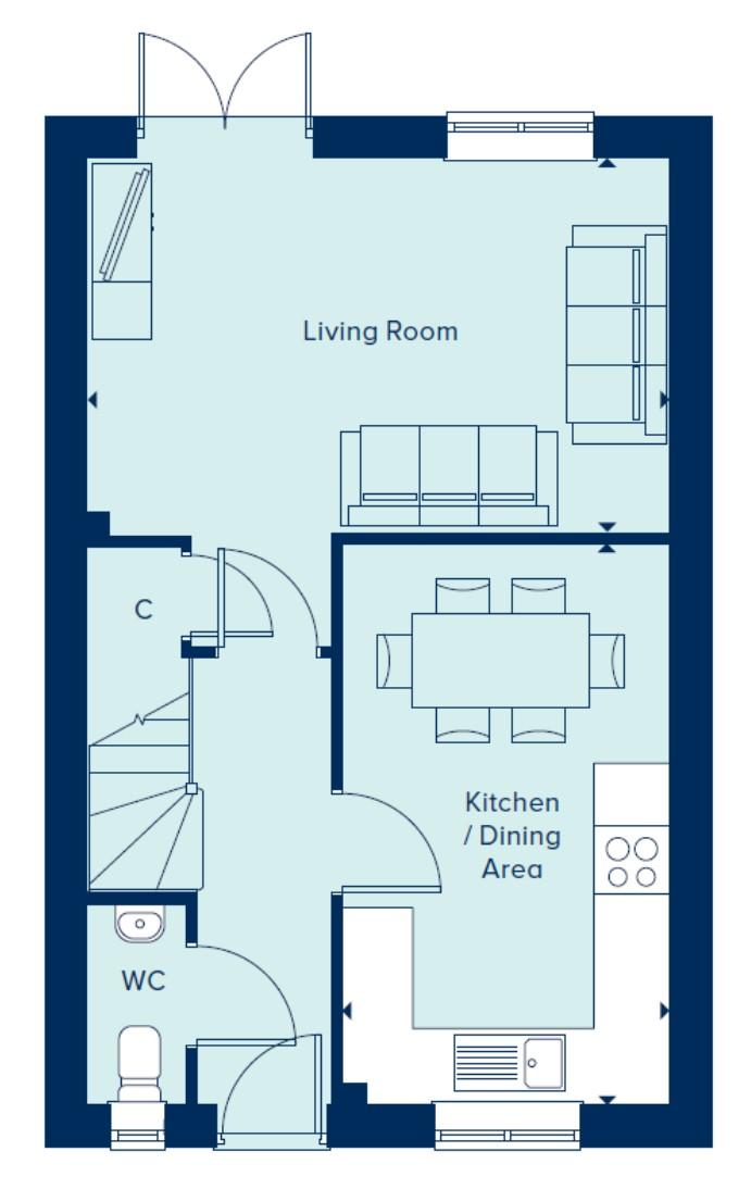 The Filey ground floor
