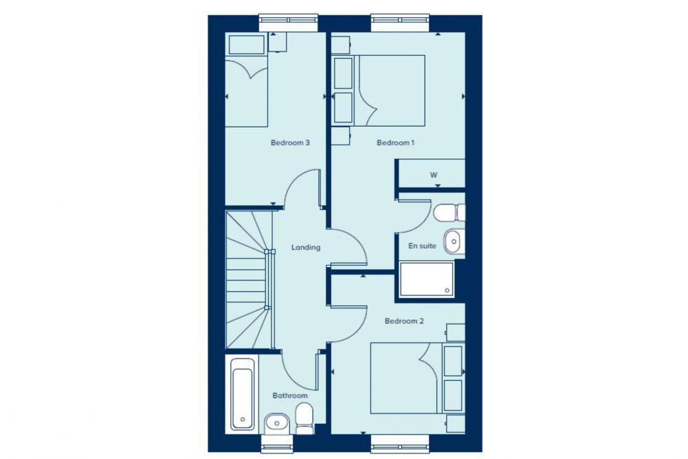 The Evesham First Floor plan